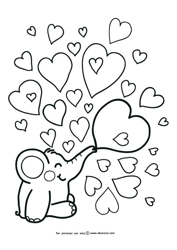 I Love - free printable coloring page by oksancia with Rondy the - new love heart coloring pages to print