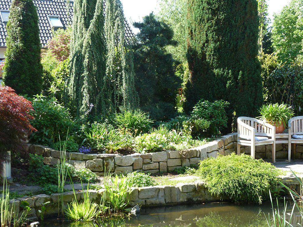 Fa Knolle Referenzen Wassergarten Ganderkesee Teichbau Gartenteich Referenz Objekt Knolle Harpstedt Outdoor Spaces Outdoor Garden