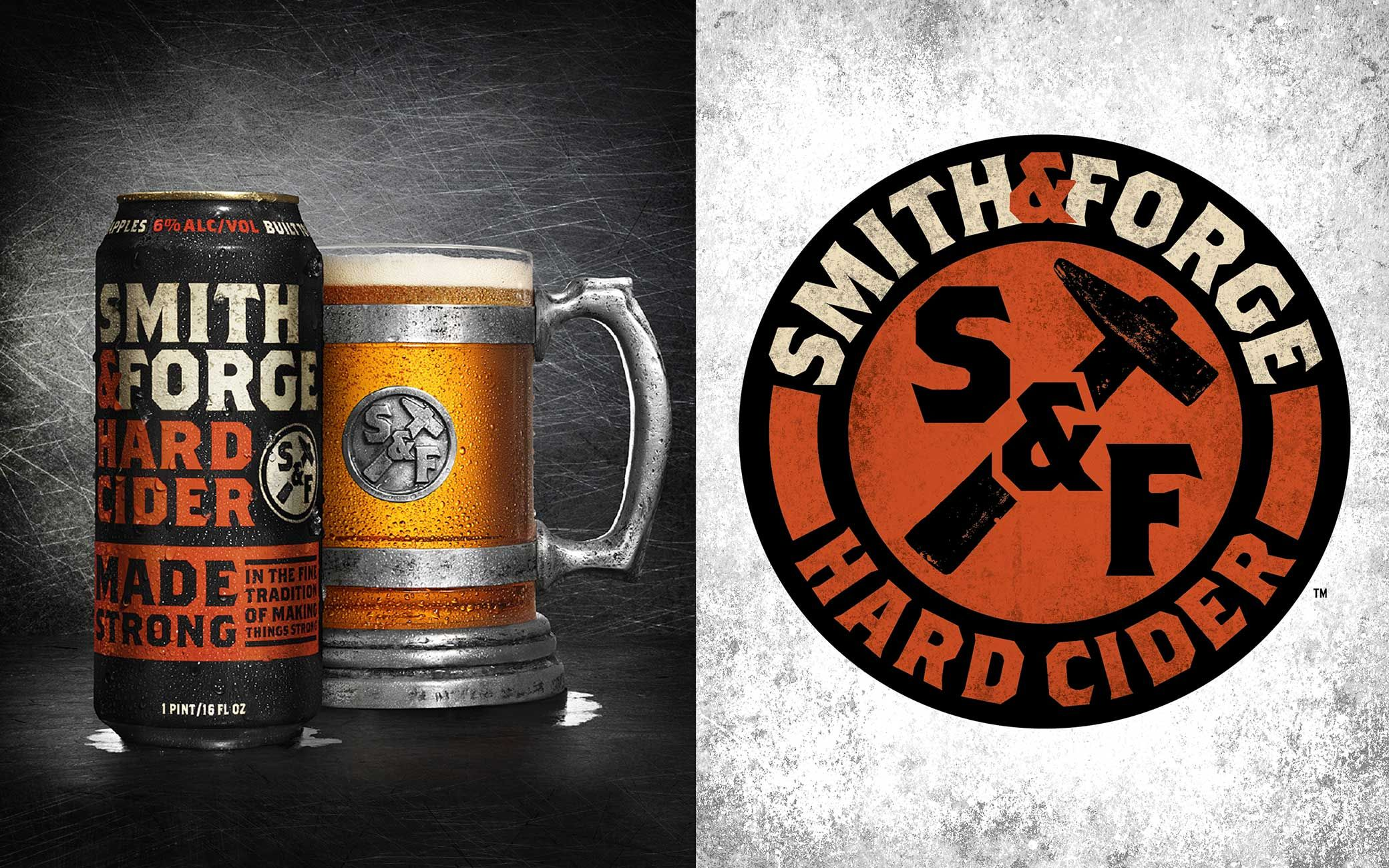 smith and forge. smith \u0026 forge hard cider logo and branding