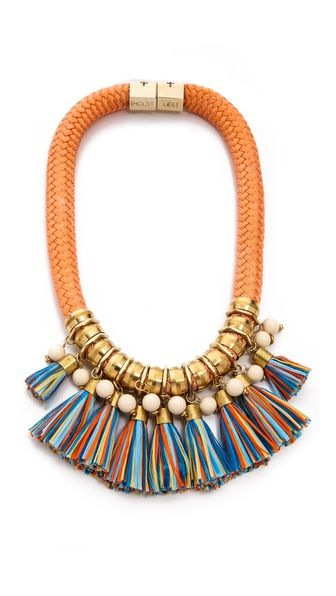 perfect spring/summer statement necklace- could I DIY?