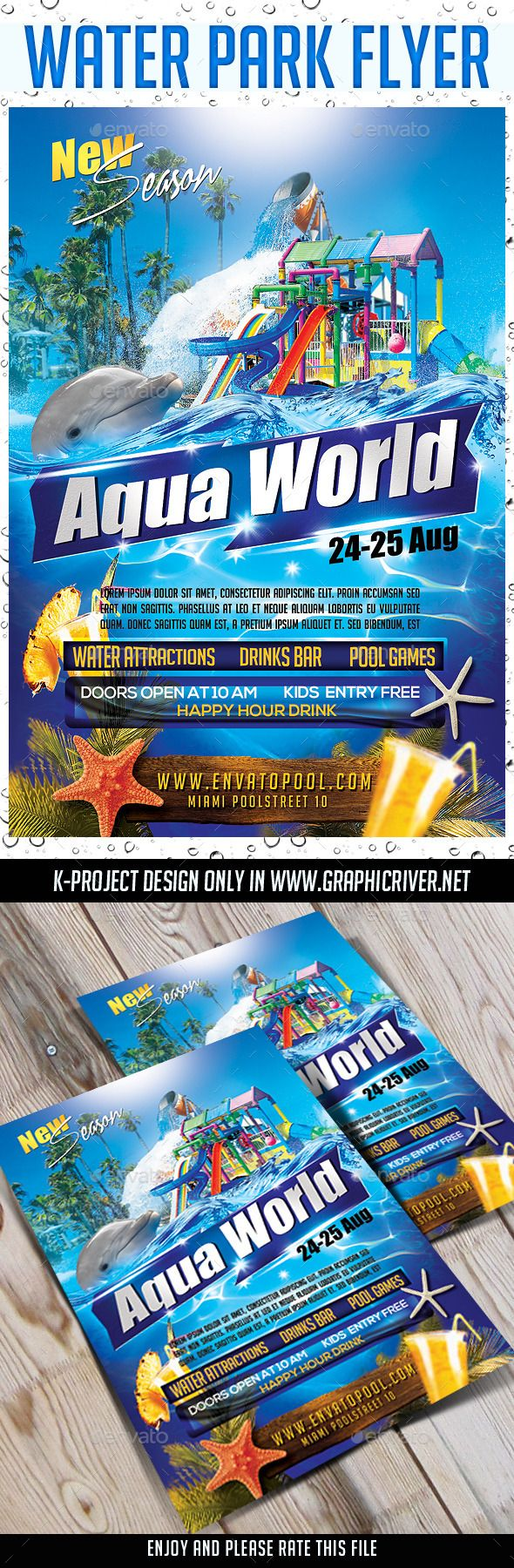 Pin by SirleK on summer flyer templates   Flyer design