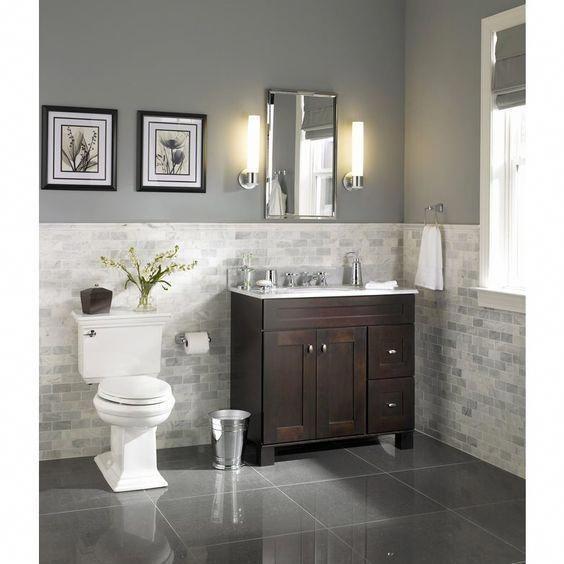 allen + roth Palencia Espresso Contemporary Bathroom ...