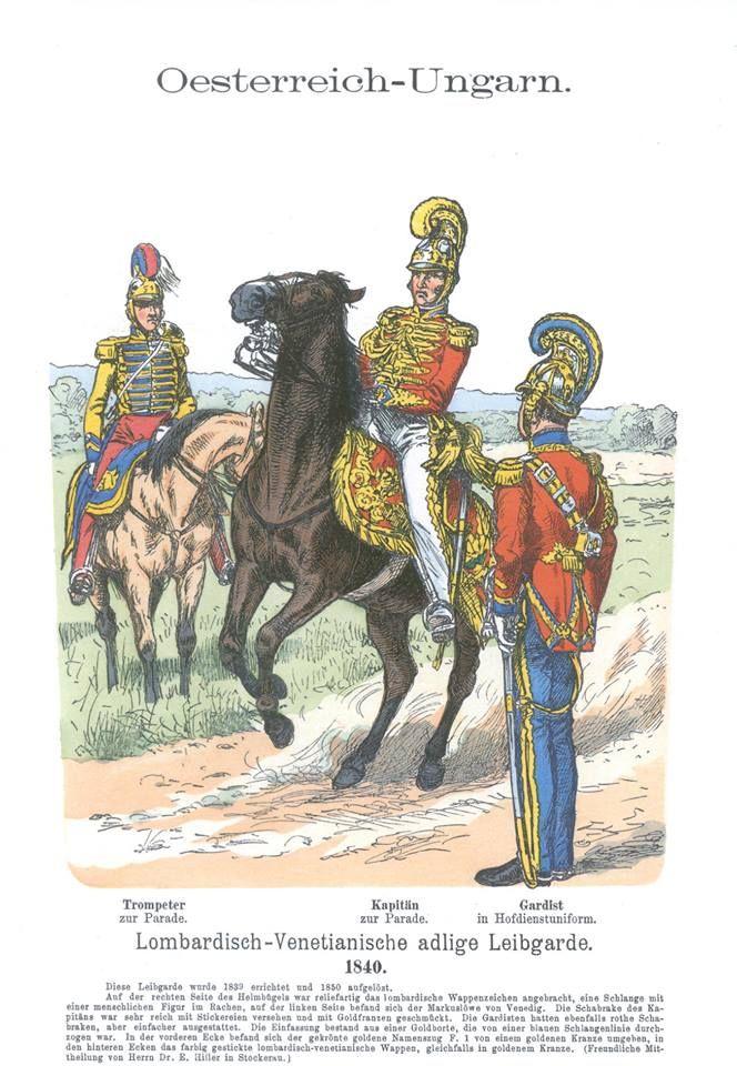 Band XI #48.- Österreich-Ungarn. Lombardisch-Venetianische adlige Leibgarde 1840.