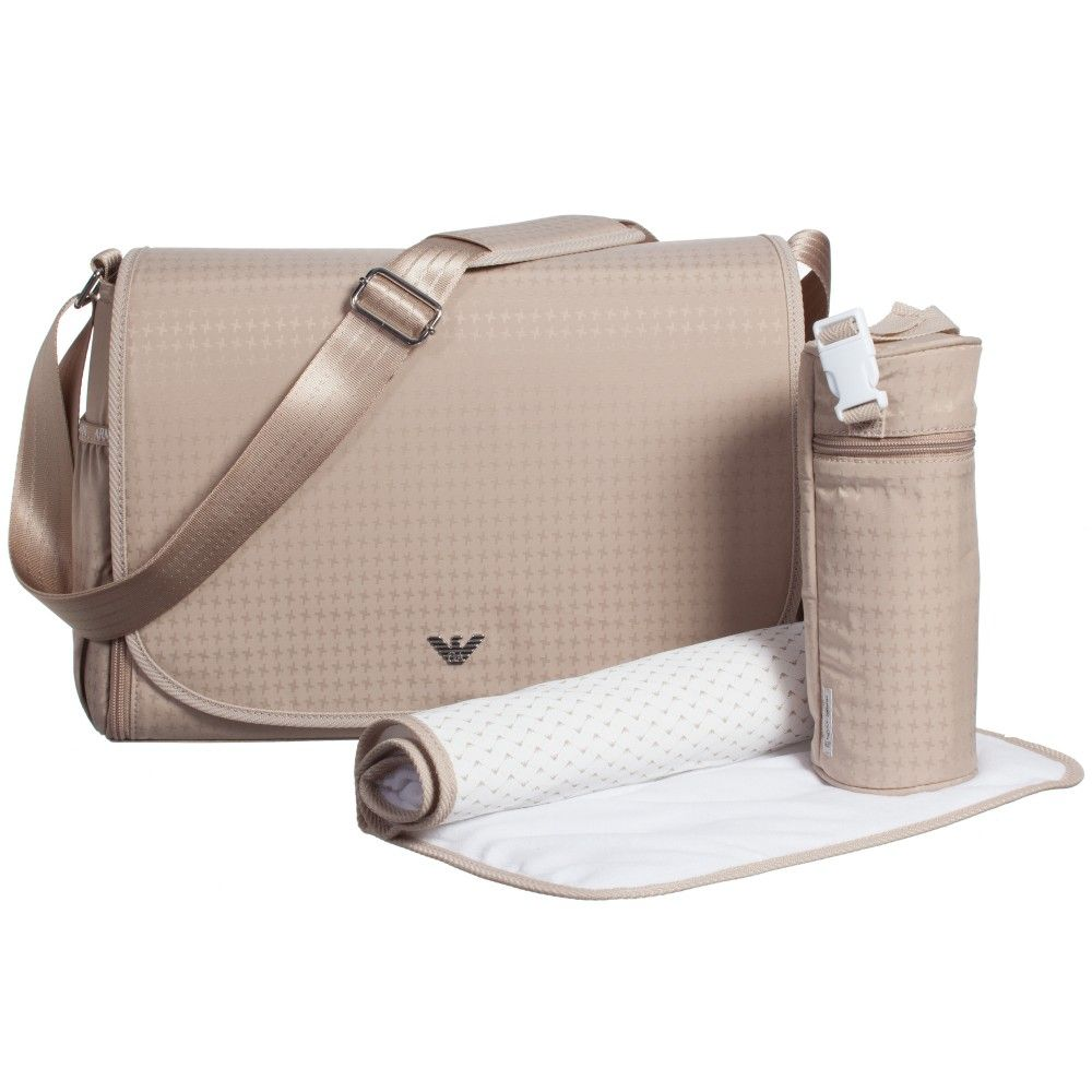 a9d8bfff7ac2 Armani Beige 4 Piece Baby Changing Bag Set (37cm) at Childrensalon ...