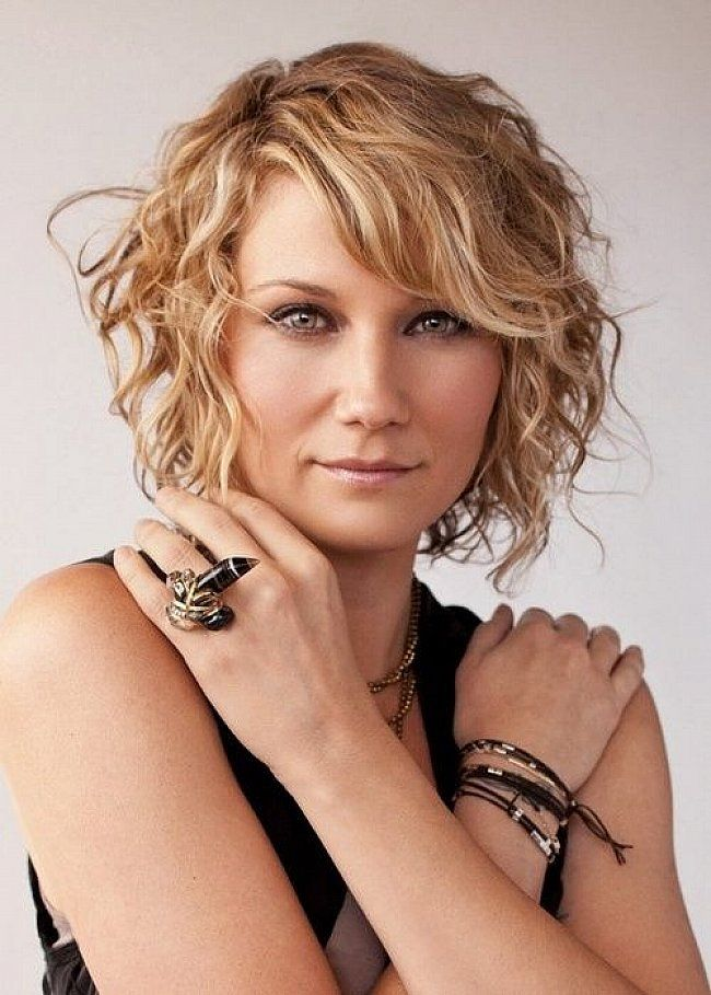 Short Wavy Hair With Bangs Short Hairstyles For Curly Hair With