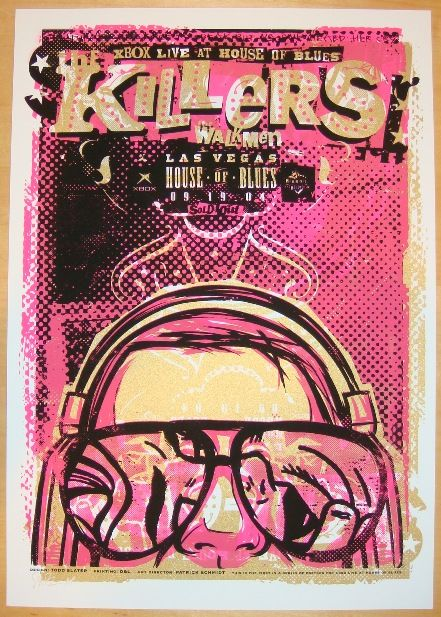 2004 The Killers Las Vegas Concert Poster By Todd Slater With