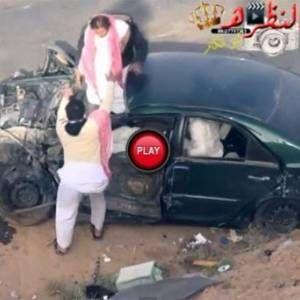 Saudi Arabian Drifters Escape Death In Horrifying Accident (Video)