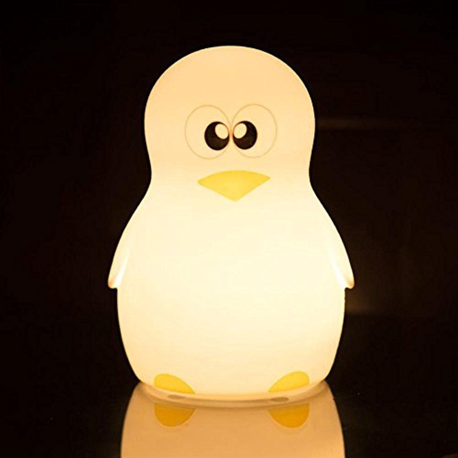 Niceeshop Tm Led Children Night Light Cute Penguin Silicone Night Lights Lamp For Kids Bedroom Nursery Bab Night Light Kids Best Night Light Star Night Light