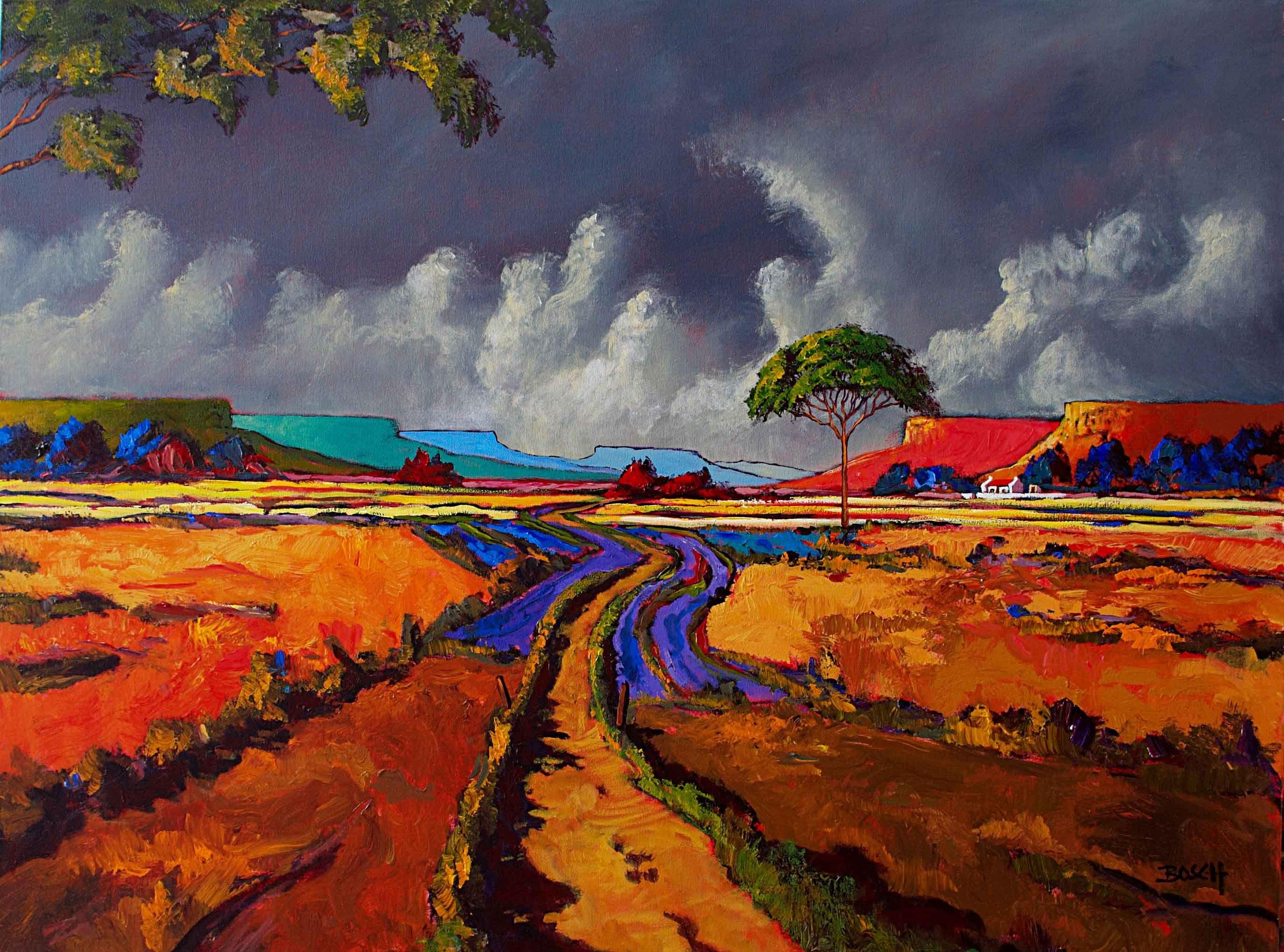 Cornelius bosch landscape colorful art paintings
