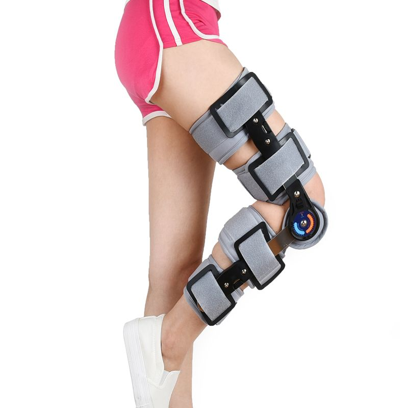 Jorzilano Knee Brace Support Orthopedic Hinged Splint Stabilizer Wrap Sprain Post Op Hemiplegia Flexion Extension Left Right Af With Images Sprain Knee Brace Orthopedics