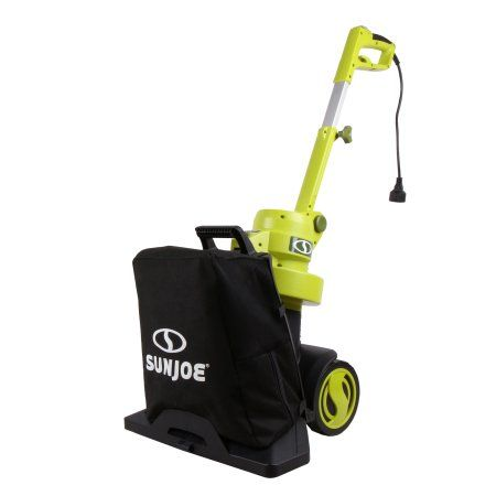 Sun Joe SBJ801E 3-in-1 Electric Blower/Vacuum/Mulcher , Max 130 MPH · 13.5-Amp , Walk Behind, Green