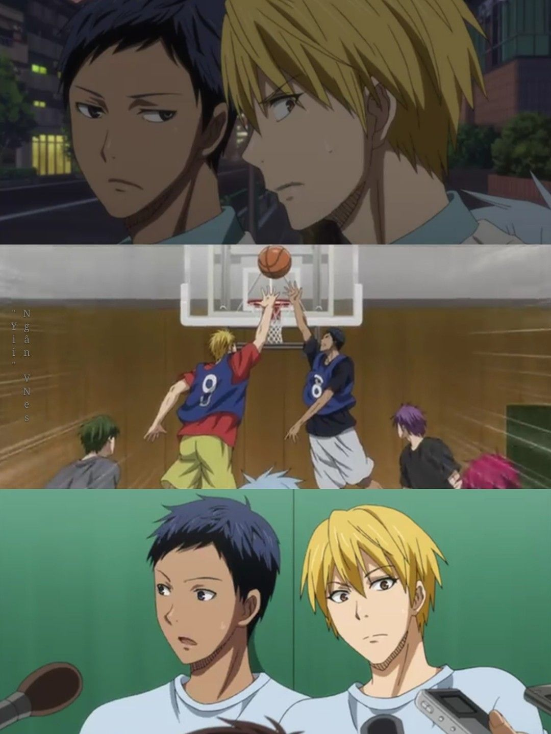 They Look Like They Re Getting Interviewed About Their Relationship Love Life Aomine X Kise Aokise