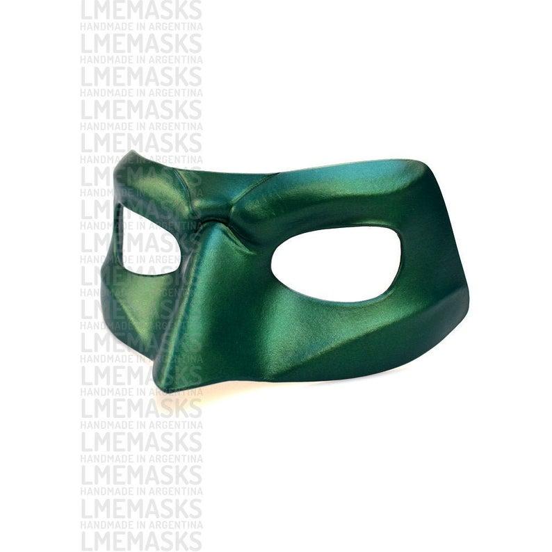Green Lantern Leather Mask Hal Jordan Cosplay Corps Dc Comics Etsy