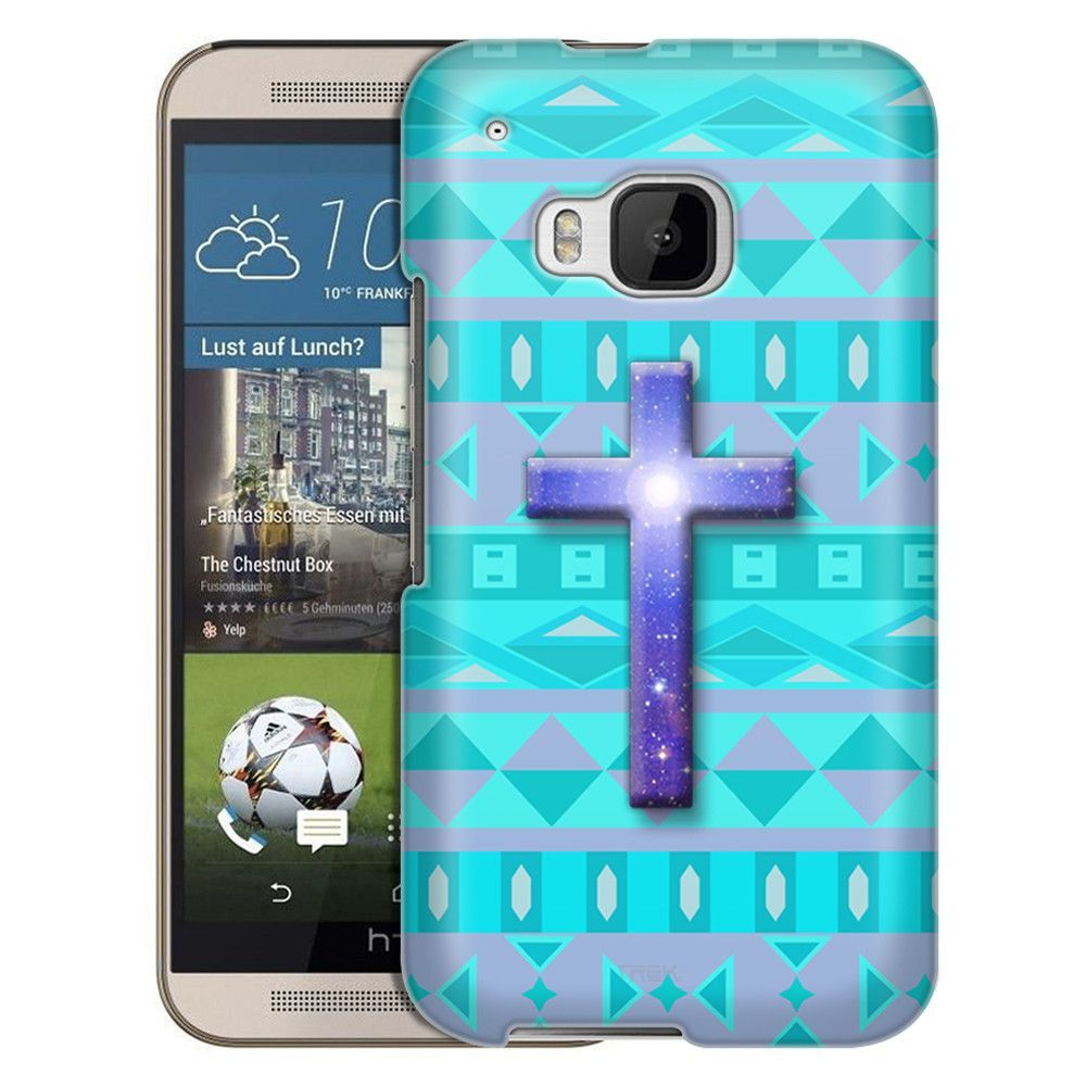 HTC One M9 Cross on Aztec Andes Tribal Tea Slim Case