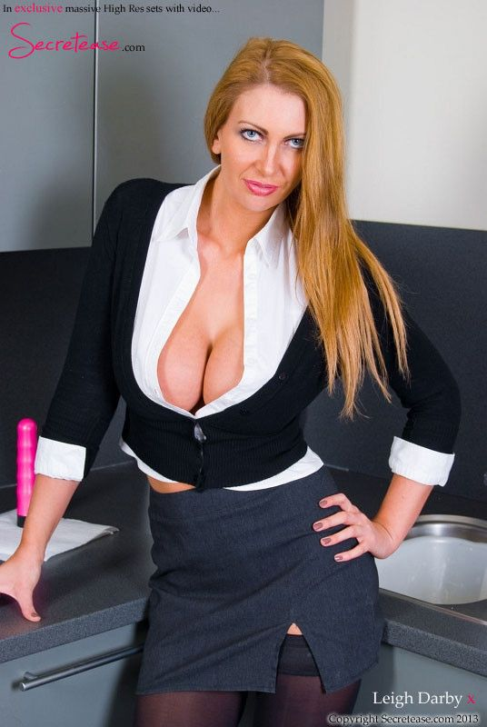 Leigh Darby As The Sexy Secretary Cleavage