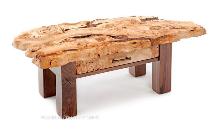 Walnut Coffee Table Burl Wood Coffee Table Live Edge Cocktail Table