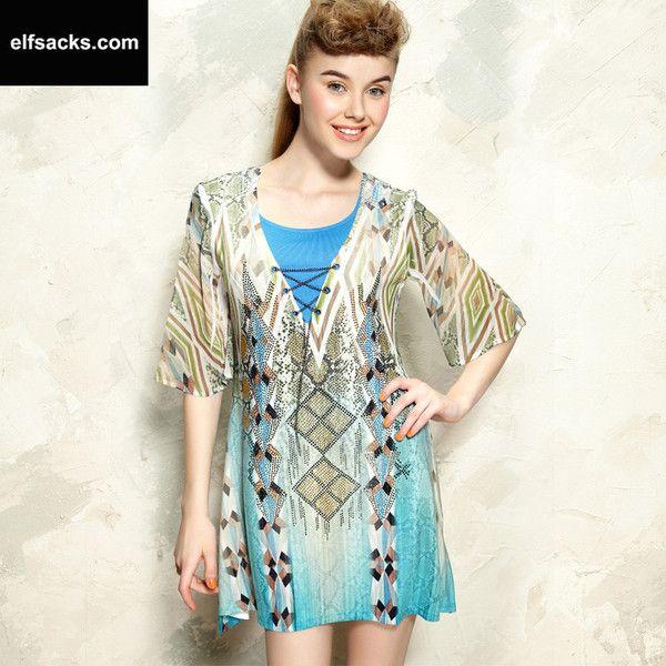 Womens Diamond Vintage Dress