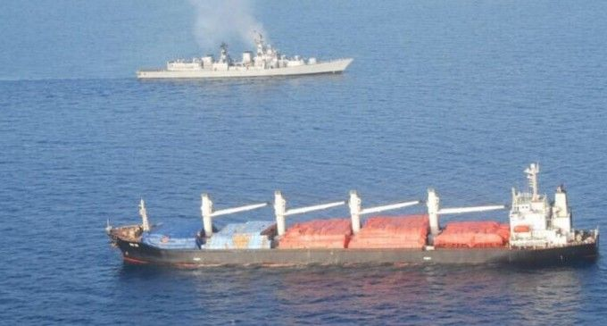 Somalia security forces have rescued an Indian cargo ship hijacked by Somali pirates on April 1 but nine of the 11 crew members are missing, a maritime official said on Tuesday.