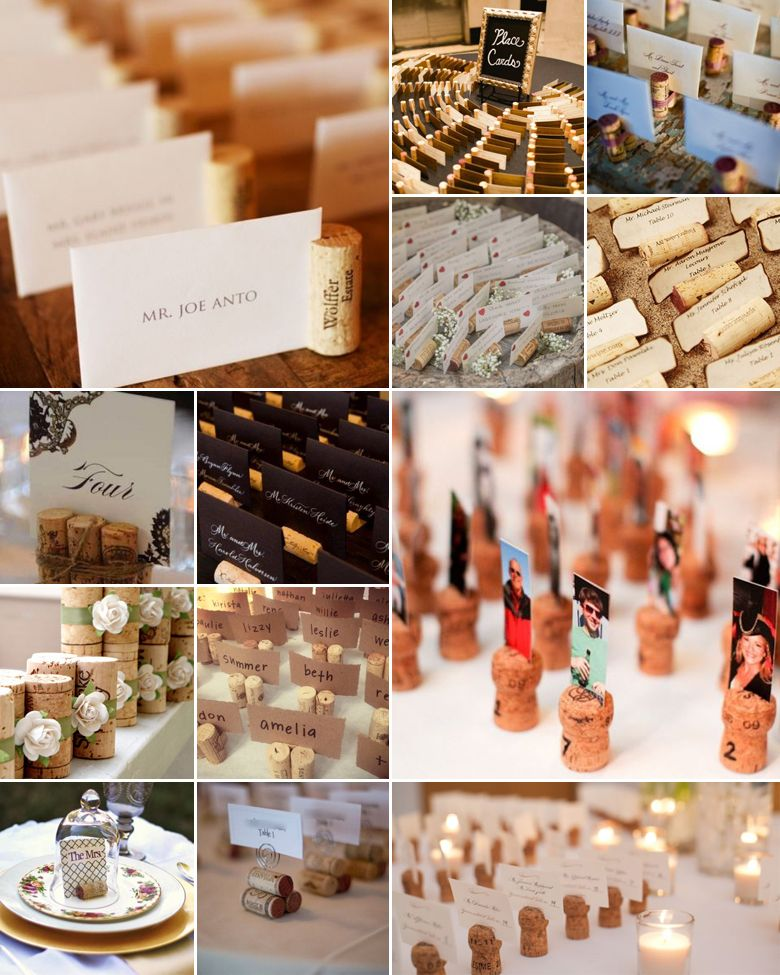 Before you throw your corks away, here are three methods to turn this bland object into an important aspect of your wedding: The place cards.