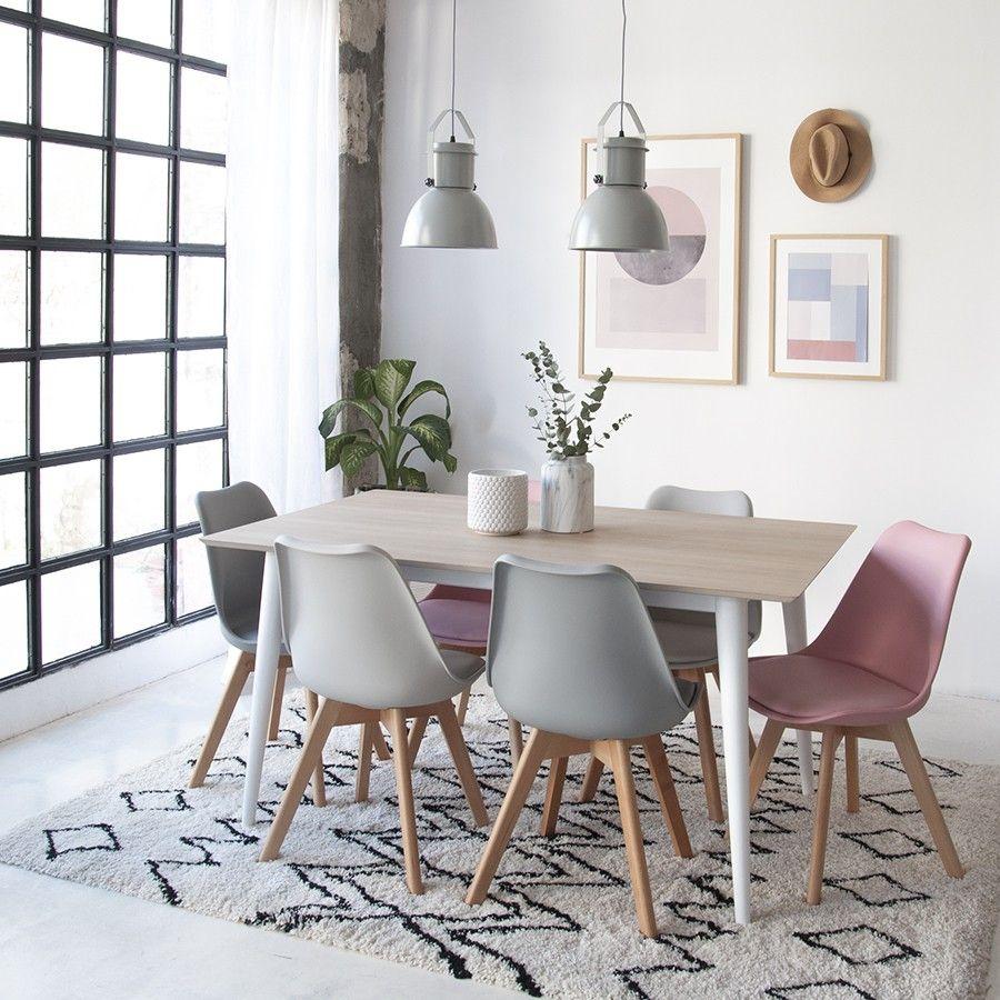 Scandinavian silla rosa en 2019 cocinas decorar casas for Decoracion de cocinas comedores modernos