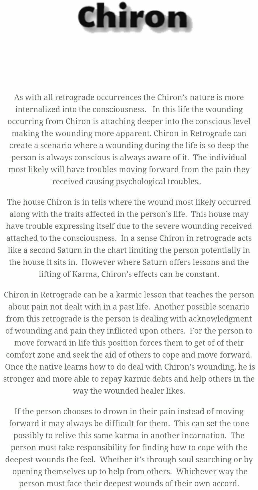 astrology chiron in virgo