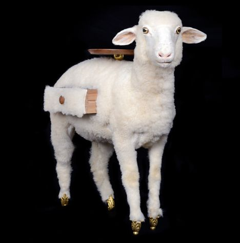Taxidermy Sheep Cabinet Joins Salvador Dalí Furniture Collection