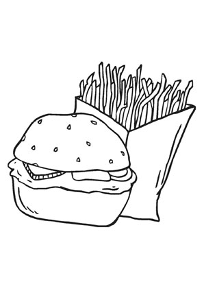 Ausmalbild Burger Ausmalen Ausmalbild Burger