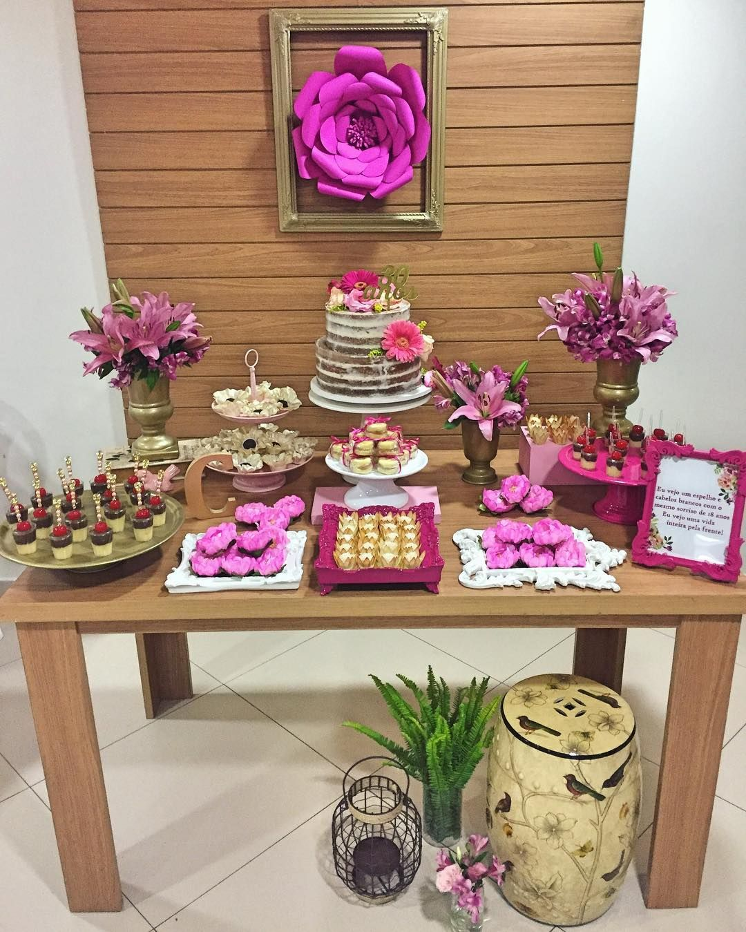 Festa Adulto Feminina 30 Anos Simples E Delicada Em Tons De Rosa