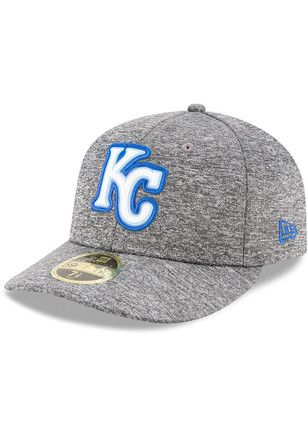 save off 561c8 b57b1 KC Royals New Era Mens Grey Bevel Team 59FIFTY Fitted Hat