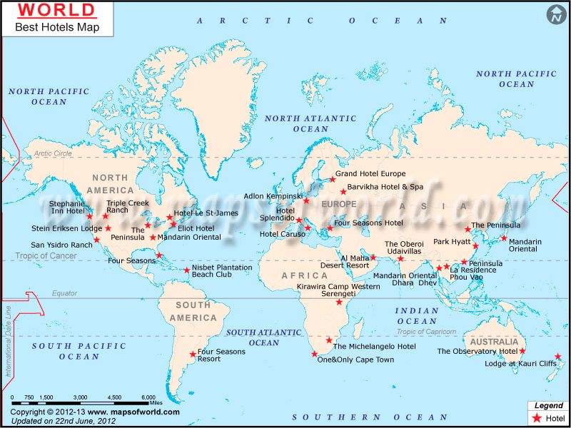 World Best Hotels On A Map Maps Pinterest Location Map - Usa location on world map