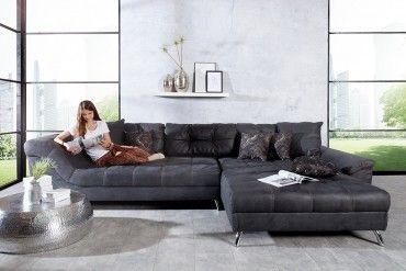 Design Wohnlandschaft San Francisco 360cm Grau Inkl Kissen Mobel