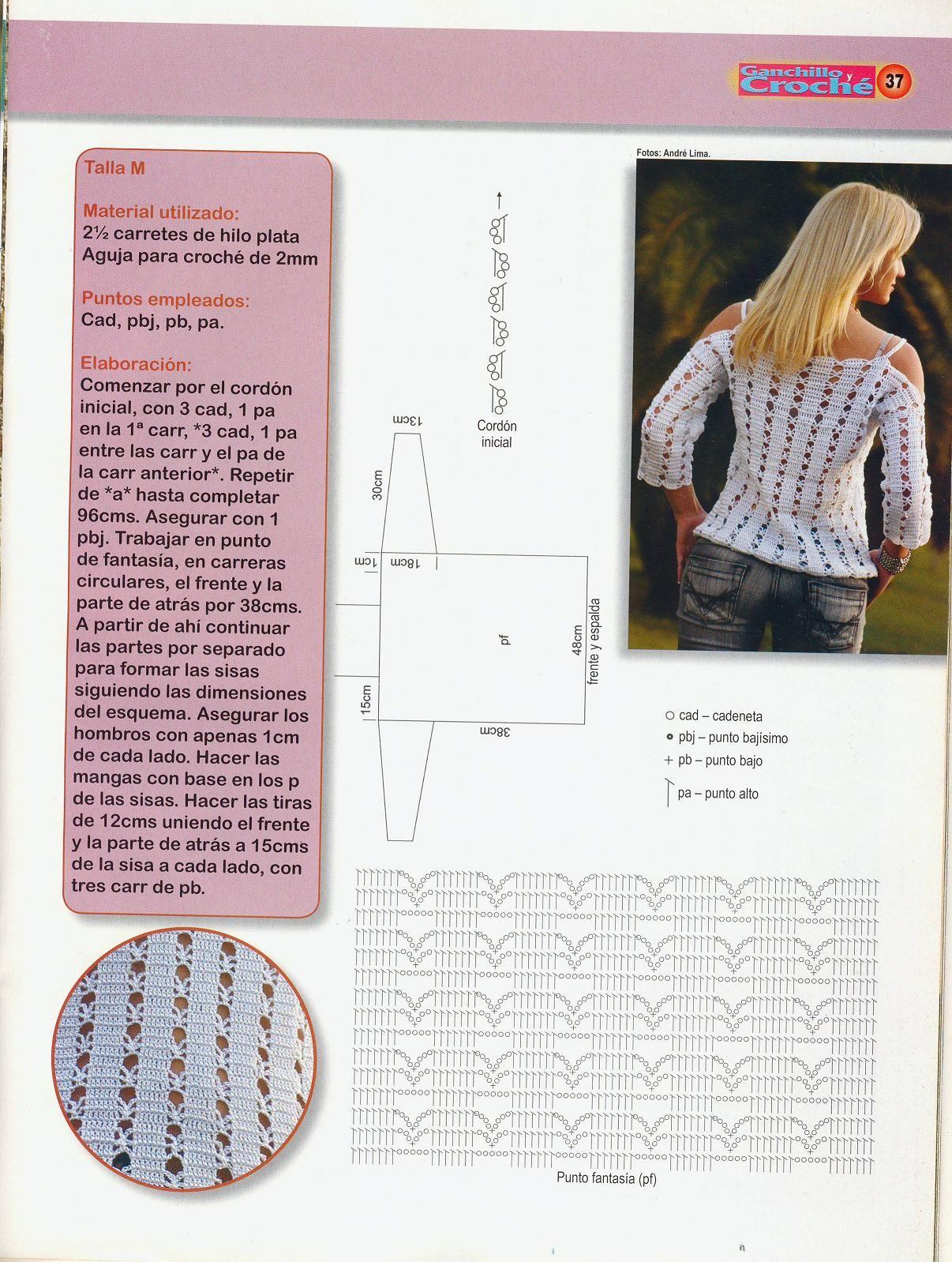 Crochetpedia: Long Sleeve Shirt | patrones de todo un poco ...