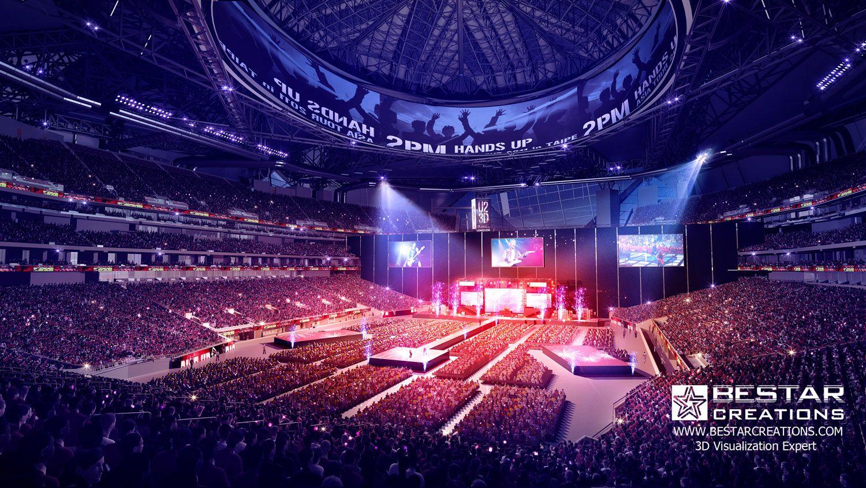 3d stadium rendering