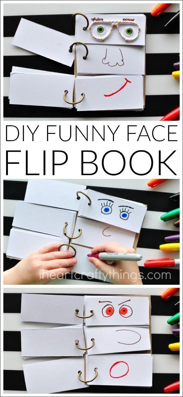 Diy Funny Face Flip Book Art And Crafts For Kids Crafts For Kids