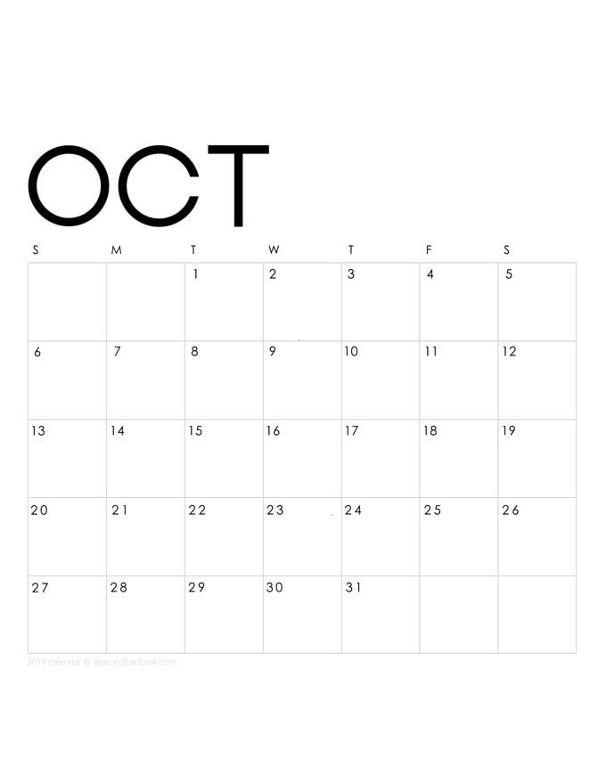 Printable October 2019 Calendar Monthly Planner 2 Designs Flowers & Modern is part of Calendar monthly planner, Monthly calendar printable, 2019 calendar, Calendar printables, Editable calendar, October calendar - Free printable October 2019 calendar and monthly planner, 2 beautiful designs to download flowers with painted floral bouquets & modern minimal style!