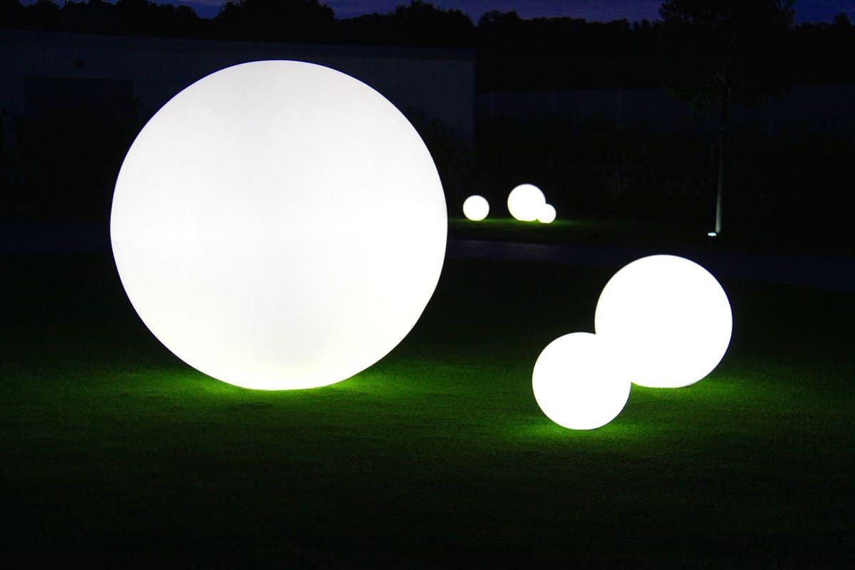 Kugelleuchten Leuchtkugeln Fur Den Garten Outdoor Floor Lamps Led Floor Lamp Led Table Lamp