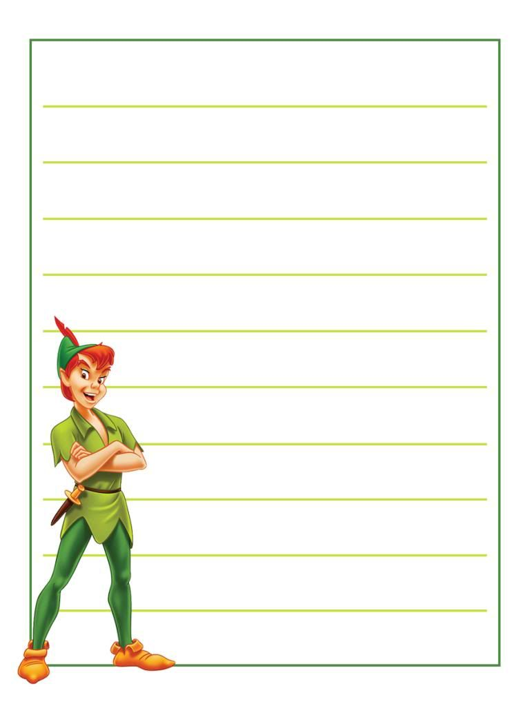 small resolution of Journal Card - Peter Pan - standing - lines - 3x4   Disney project life