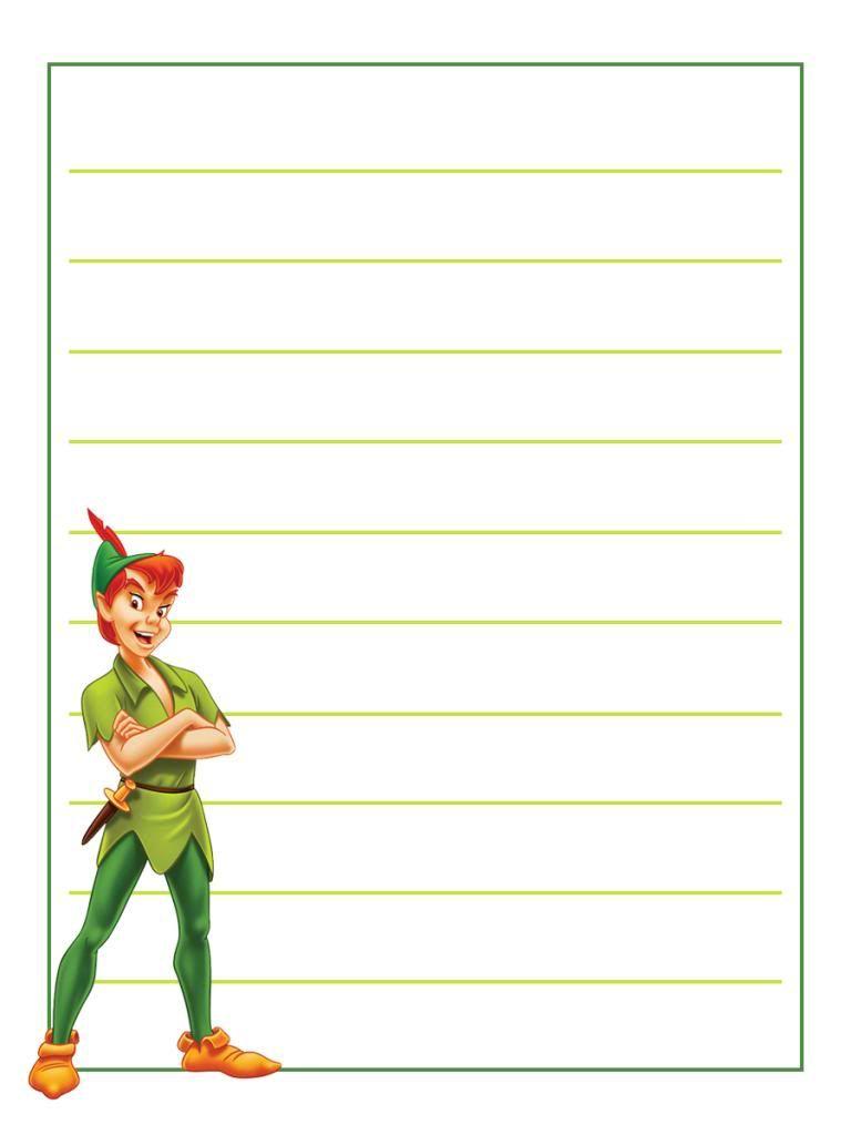 medium resolution of Journal Card - Peter Pan - standing - lines - 3x4   Disney project life