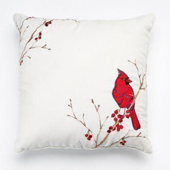 redcardinalsquarepillowkohls st nicholas square christmas cardinal decorative pillow