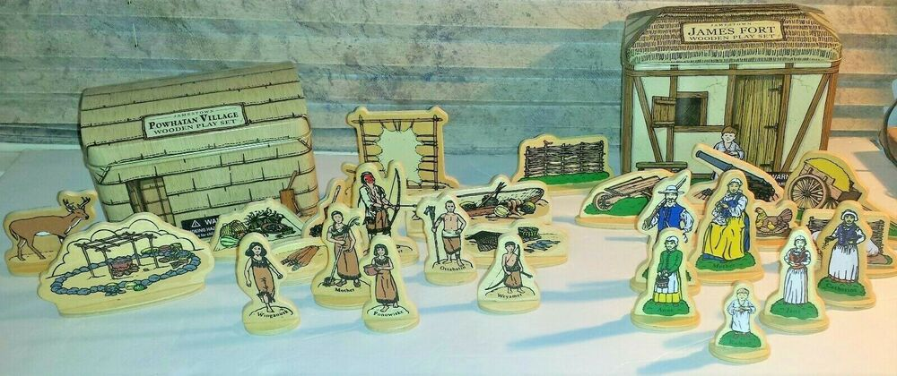 Jamestown Virginia Wooden Play Sets Powhatan Indian