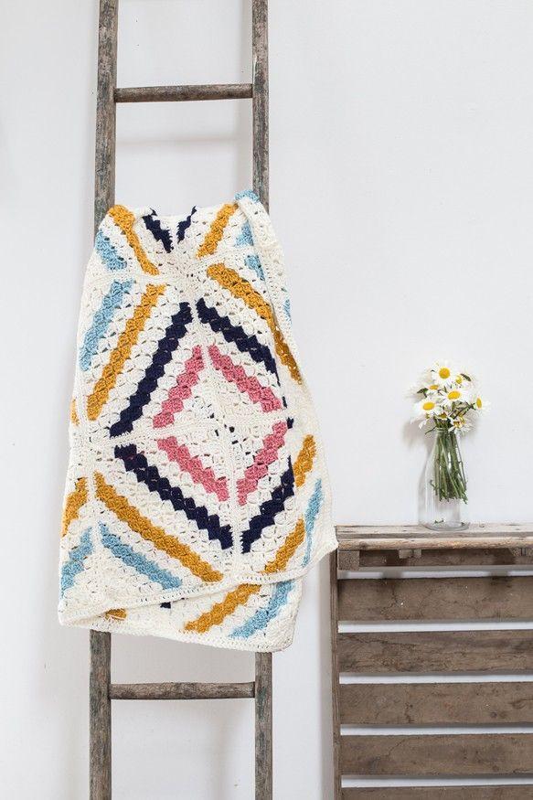 crochet afghan pattern using corner to corner (c2c) crochet. modern ...