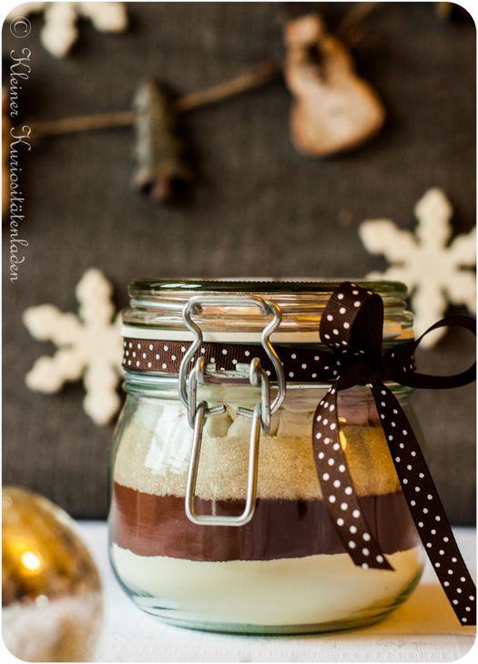 kakaomischung im glas glas geschenke aus der k che und geschenk. Black Bedroom Furniture Sets. Home Design Ideas
