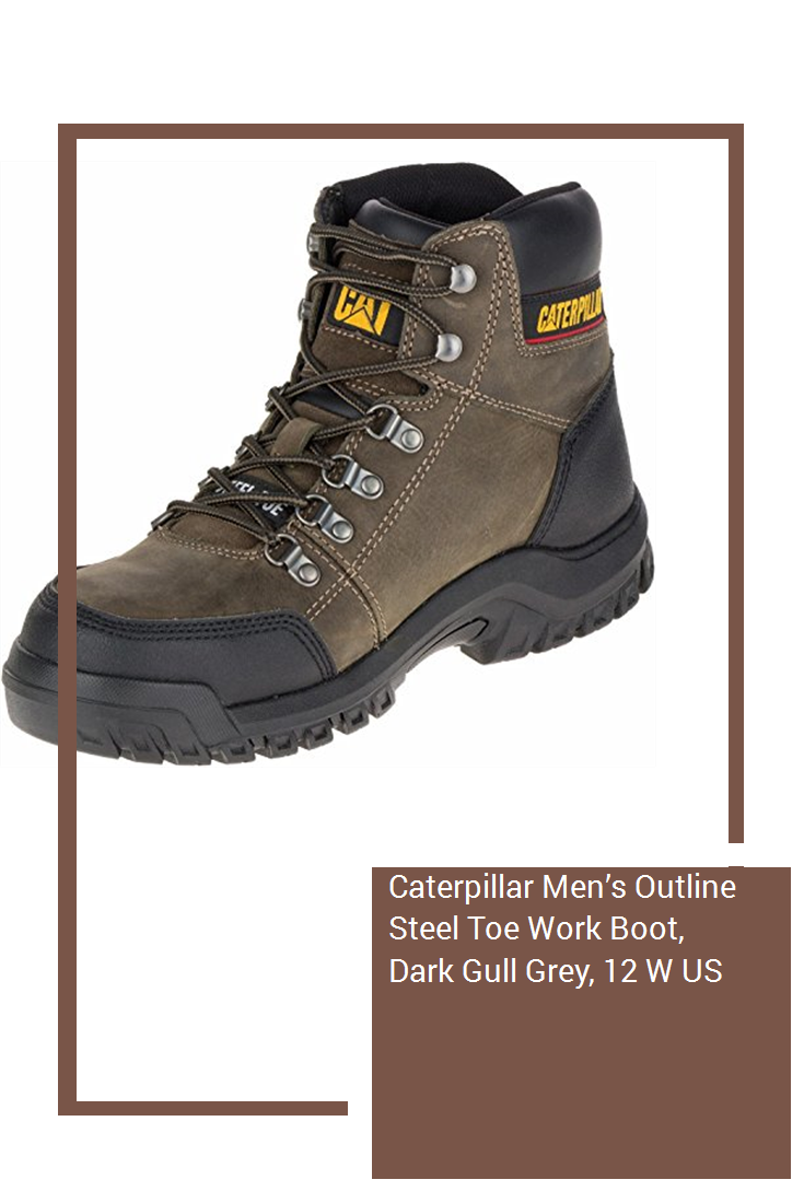 a0a1665e95a Caterpillar Men's Outline Steel Toe Work Boot, Dark Gull Grey, 12 W ...