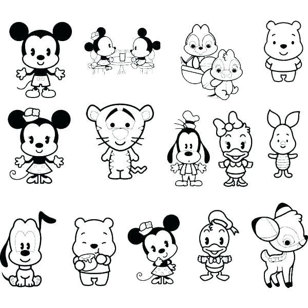 Kawaii Coloring Pages Coloring Pages Monsters Doodle Coloring Page Cute Coloring Pages Baby Disney Characters Disney Cuties