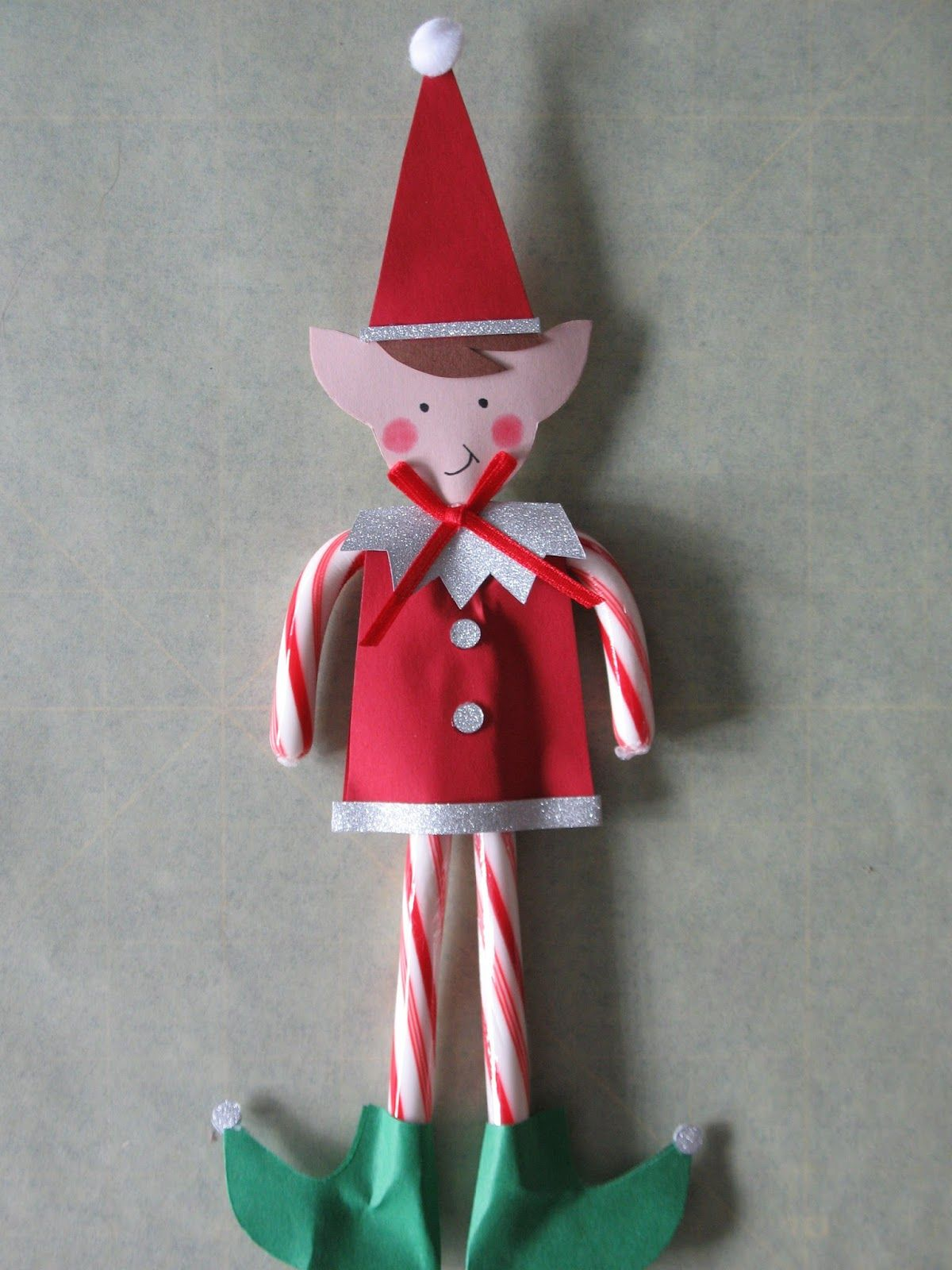 I whipped up some Candy cane elves for my two grand kids to take to ...