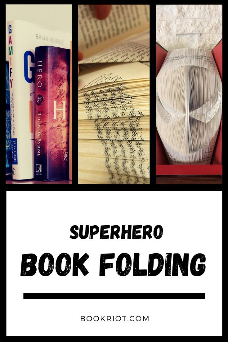 Superhero Book Folding For Crafty Geeks #superherocrafts
