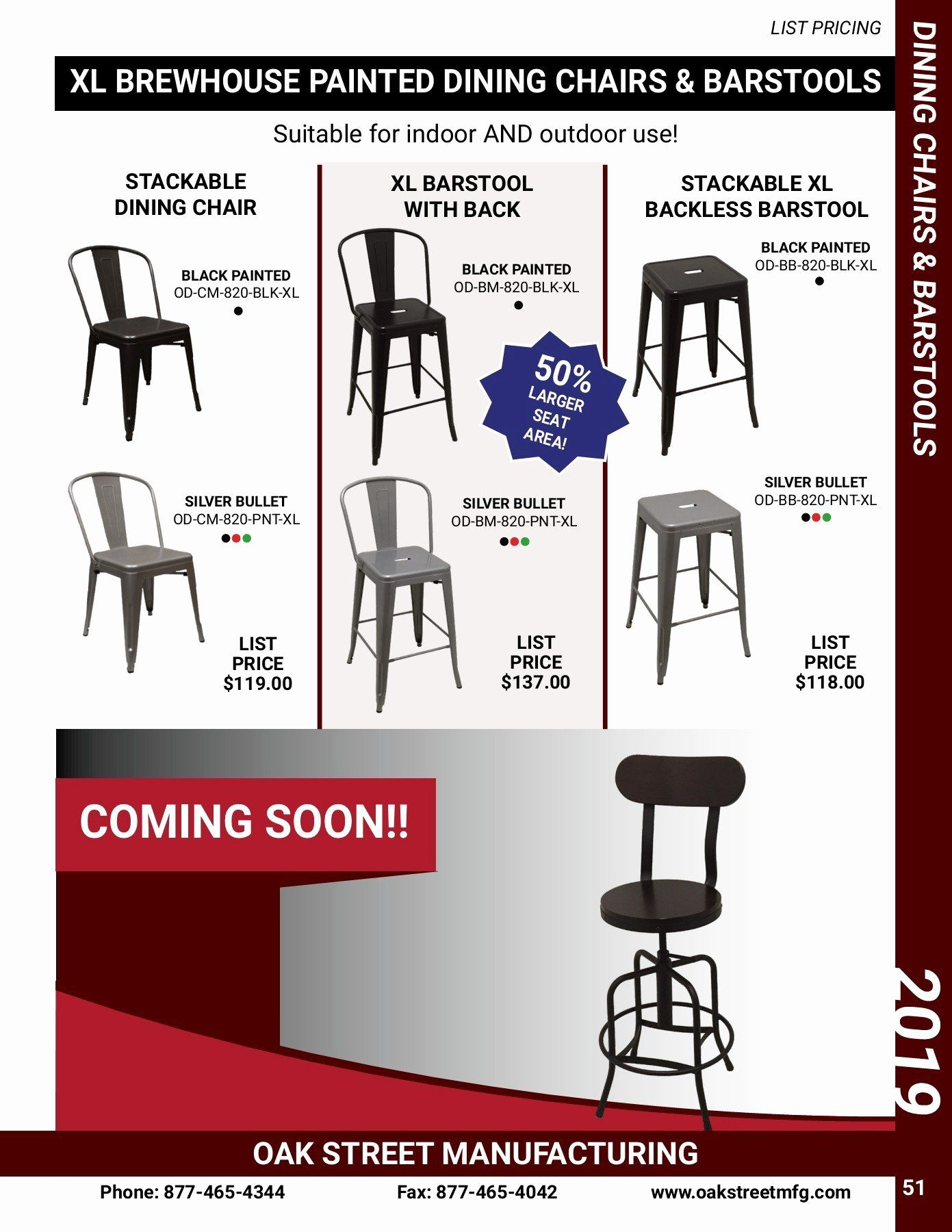 Dining Room Chair Seat Replacement Lovely 2019 Oak Street Manufacturing Product Catalog And In 2020 Painted Dining Chairs Dining Room Design Modern Dining Room Chairs