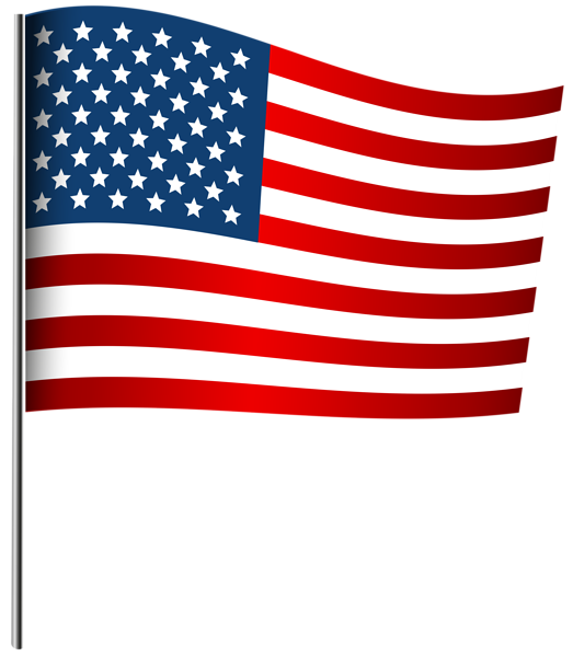 American Waving Flag Png Clip Art Image Clip Art Independence Day Images Memorial Day Flag