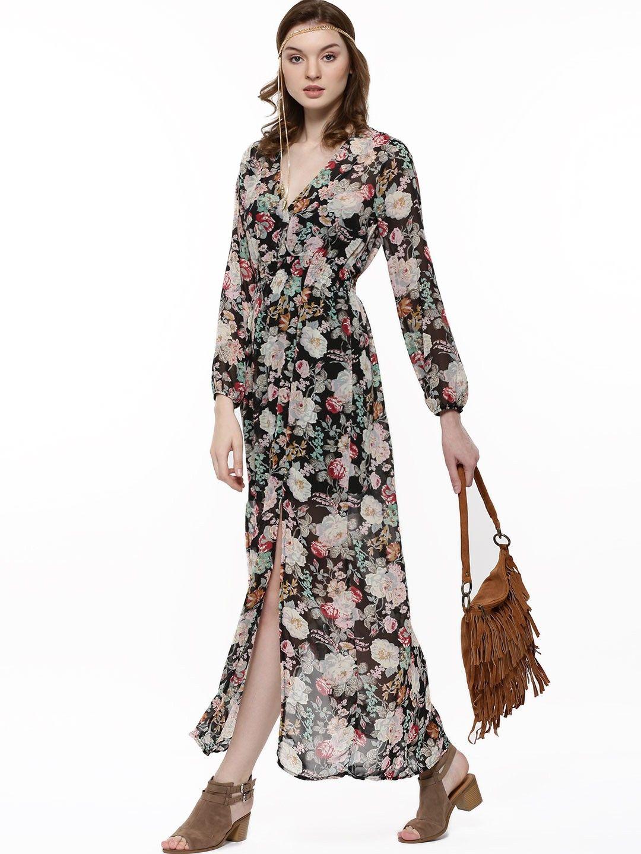 c908a0da427f GLAMOROUS Floral Print V-Neck Boho Maxi Dress - Buy Women s Maxi Dresses  online in India
