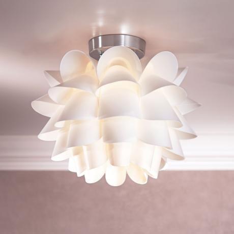 Possini Euro Design White Flower 15 34 Wide Ceiling Light
